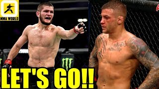 IT'S OFFICIAL Khabib Nurmagomedov will fight Dustin Poirier on Sept 7 at UFC 242,Woodley,#UFC238