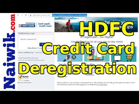 how-to-deregister-hdfc-credit-card-from-netbanking-account