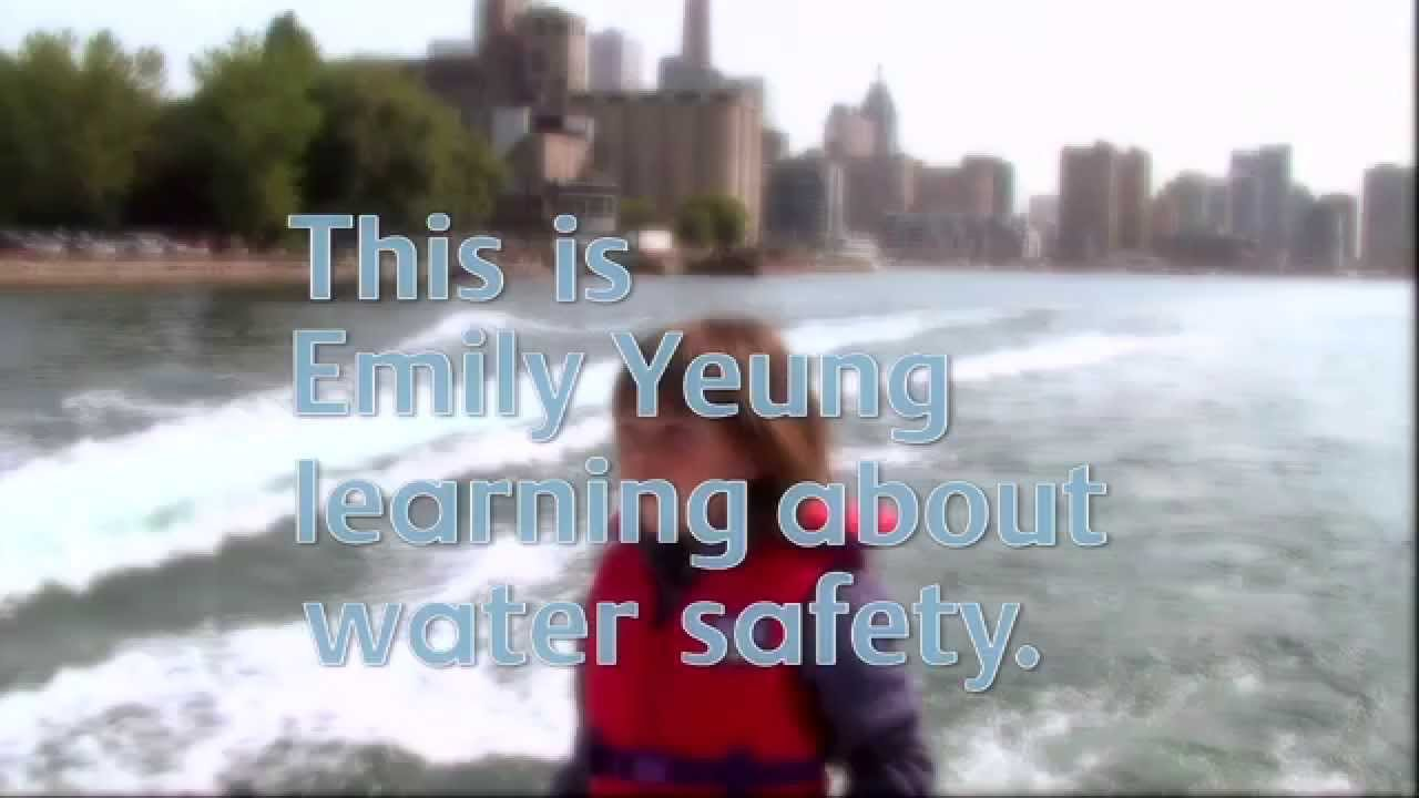 this is emily yeung learning about water safety youtube