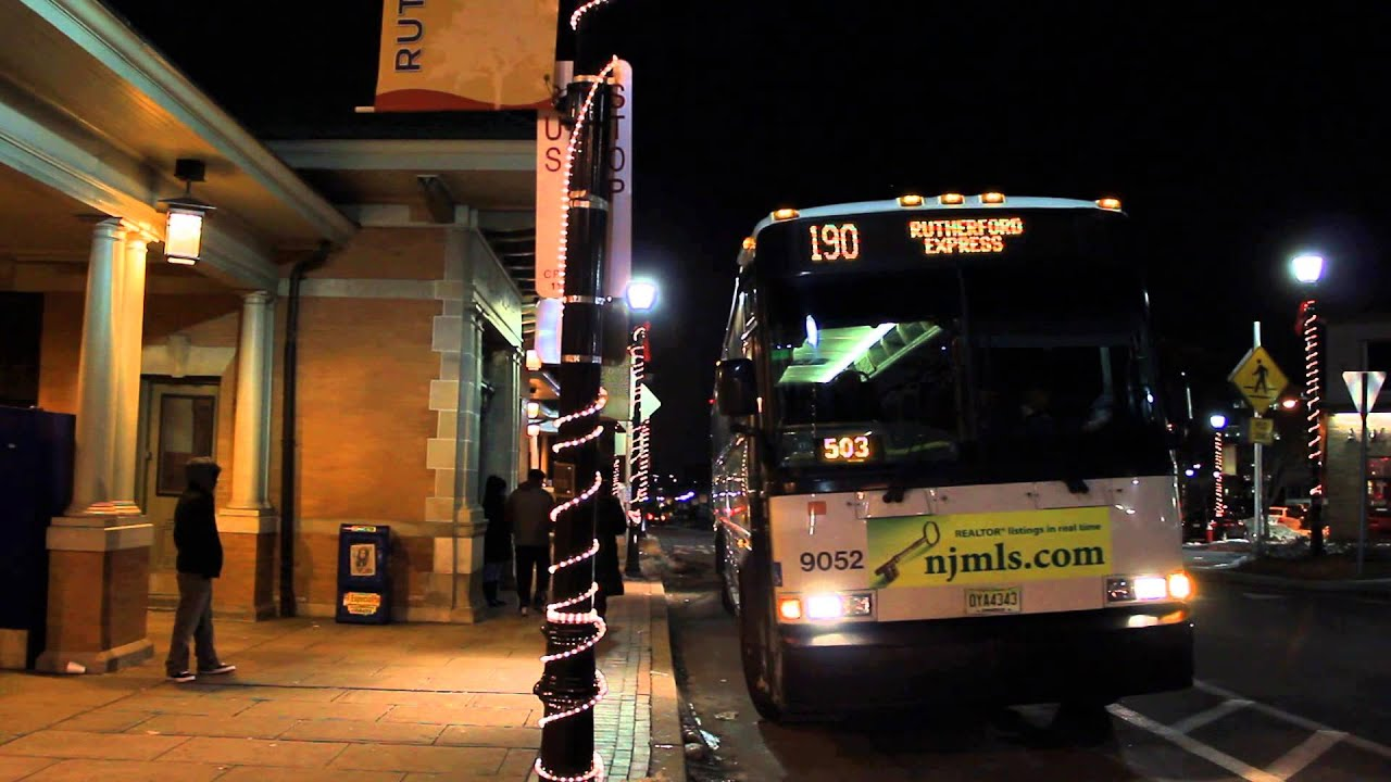 Njt Bus D4500 Route 190x At E Erie Ave Rutherford Rr