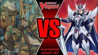 Blaster Vs Garmore - Cardfight Vanguard Playtesting August 2017
