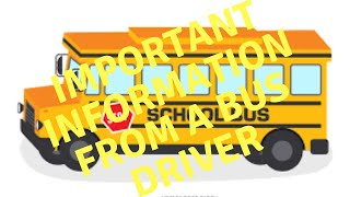 School Bus Driver Rant: Tell your kids NOT to do this on a school bus