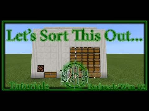 Minecraft: Windows 10/Bedrock: Tutorials: Auto Sorter/Item Elevator (AKA Droppervator)