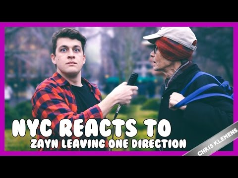 NYC REACTS TO ZAYN MALIK LEAVING ONE DIRECTION | Chris Klemens