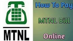 How To Pay MTNL Bill Online | MTNL का  बिल ऑनलाइन भुगतान कैसे करें