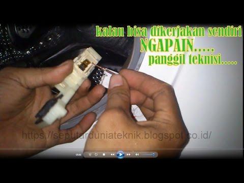 Cara memperbaiki mesin cuci otomatis LG WD M8070TD problem pintu error LENGKAP