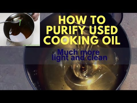 HOW TO RECYCLE/ PURIFY USED COOKING OIL SIMPLE AND EASY STEPS BY LOOKS AND FLAVOURS
