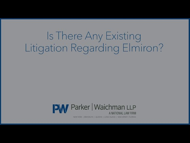 Is There Any Existing Litigation Regarding Elmiron