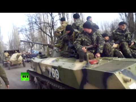 Ukrainian armored vehicles seen close to Donetsk as govt ultimatum nears end