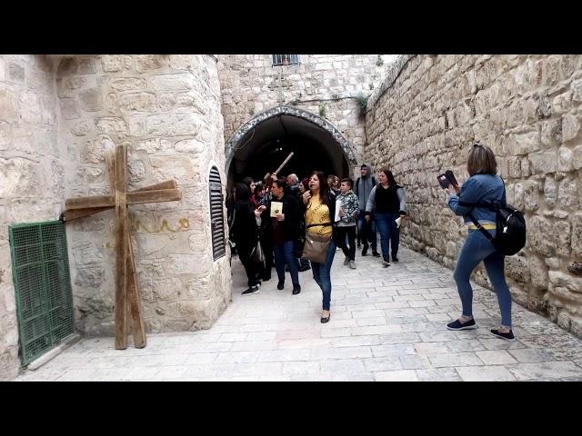 Via Crucis en JERUSALEM, por la VIA DOLOROSA (Via crucis, o mercado?)