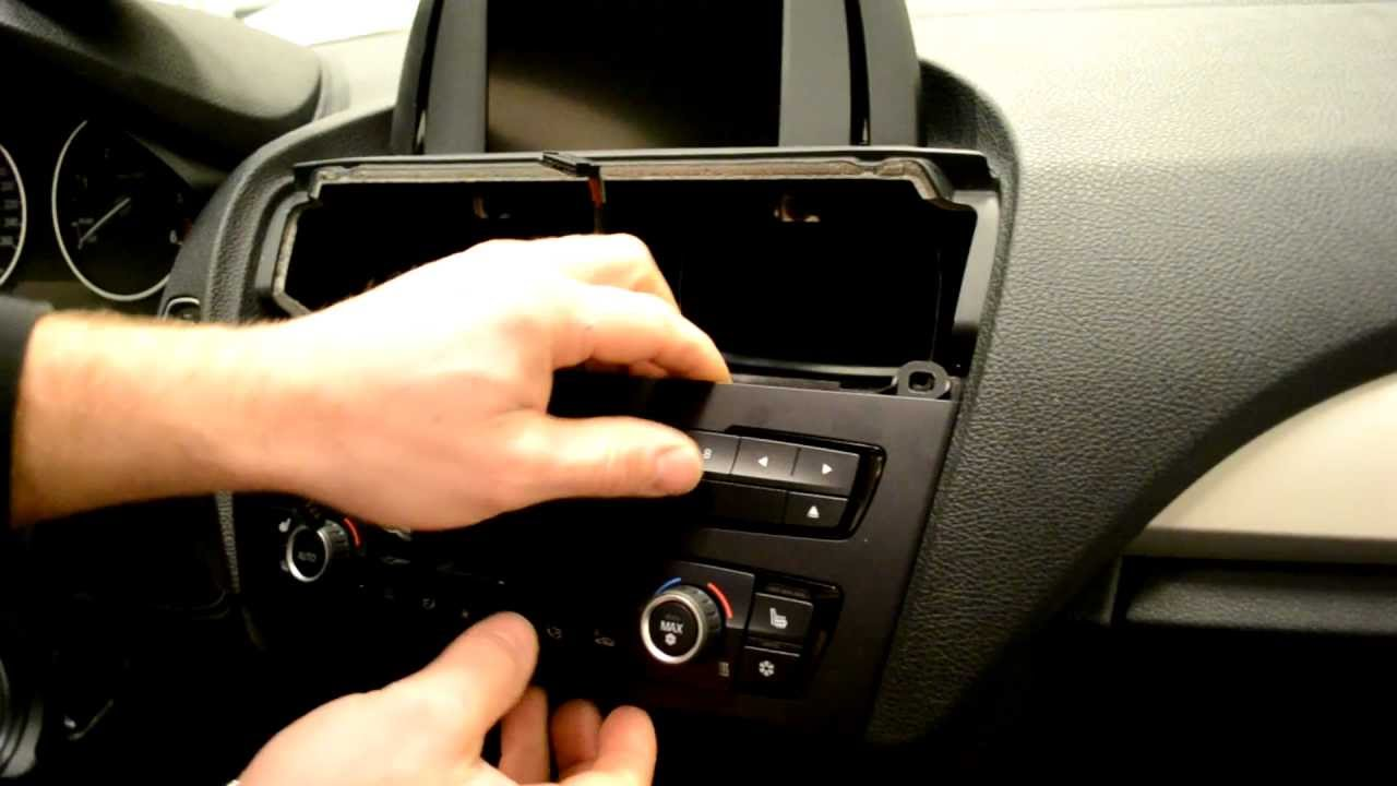 BMW F20 radio and iDrive screen removal 1-series