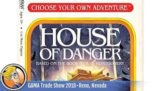 Choose Your Own Adventure: House of Danger — game preview at the 2018 GAMA Trade Show