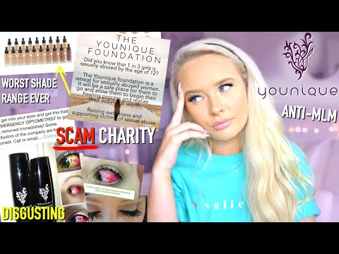 YOUNIQUE MAKEUP MLM SCAM.... SCUMMY CHARITY & BAD MAKEUP