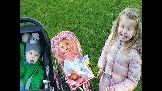 ЭЛЬВИРА И КУКЛЫ НА ПРОГУЛКЕ Luvabella Doll Кукла БЕБИ БОРН Катя Игры для детей челлендж