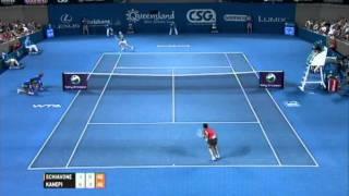 Francesca Schiavone v Kaia Kanepi Highlights Women's Singles Semi Final: Brisbane International 2012