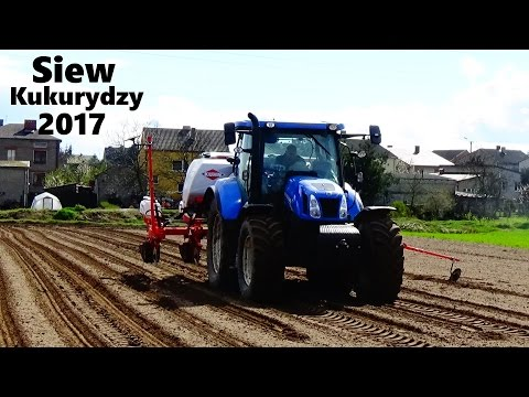 ツSiew Kukurydzy 2017 W Wielkopolsce☆ Z Nowym Nabytkiemツ NH T6.155 & Kuhn Maxima 2 TS ツ