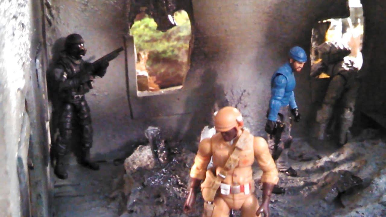 GI JOE CUSTOM BOMB SITE ACTION FIGURE DIORAMA
