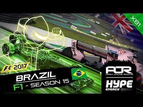 F1 2017 | AOR Hype Energy F1 League | XB1 Oceania S2 | R15: Brazilian GP