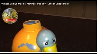 Vintage Sankyo Japan Musical Moving Turtle Toy - London Bridge Music