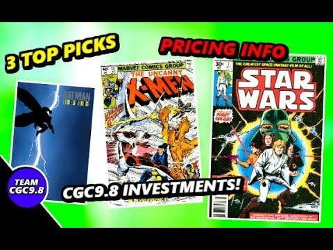 3 Top CGC 9.8 Investment Grade Comic Books