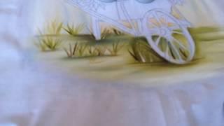 COMO PINTAR CARRINHO DE FLORES VINTAGE (2) – PINTURA EM TECIDO