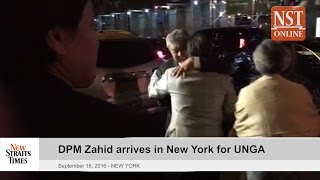 DPM Zahid arrives in New York for UNGA