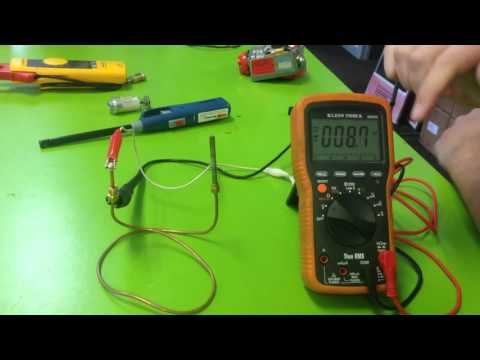 How to test a thermocouple with meter - YouTube