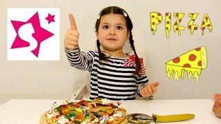 Сладкая пицца, делаем своими руками. Sweet pizza, cooking.