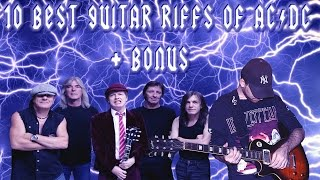 10 Best Guitar Riffs of AC/DC + Bonus - HD