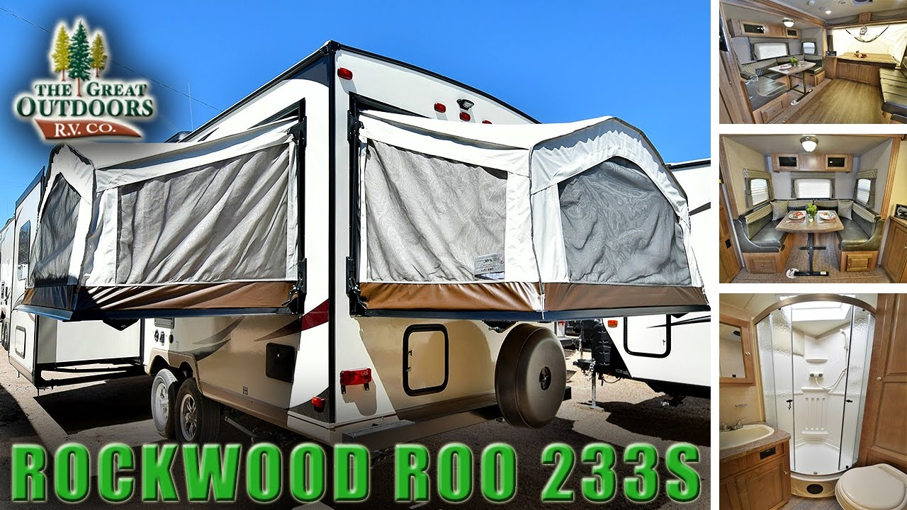 2018 FOREST RIVER ROCKWOOD ROO 233S R1075 Hybrid Pop Out RV C&er Dealer Colorado & 2018 FOREST RIVER ROCKWOOD ROO 233S R1075 Hybrid Pop Out RV Camper ...