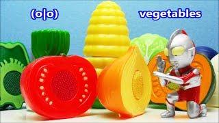 Ultraman Ginga Zero Taro Seven Tiga Mebius Victory vs Vegetables Ma...