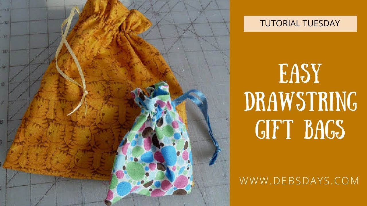 d63f34f30 How to Sew a Quick and Easy DIY Fabric Drawstring Gift Bag - YouTube