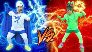 SUPER FOCA VS SUPER GAFANHOTO !!! (BATALHA DE HERÓIS)