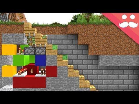 How to make 5 HIDDEN STAIRCASES in Minecraft!