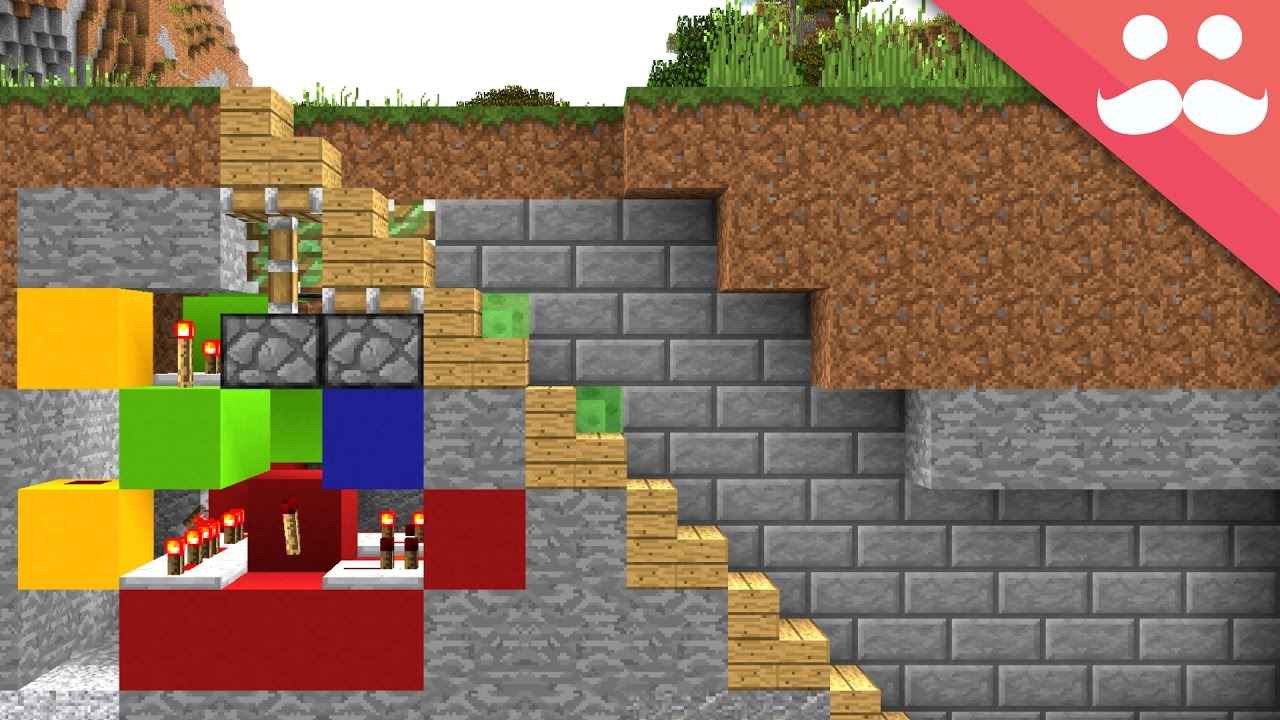 How To Make 5 Hidden Staircases In Minecraft