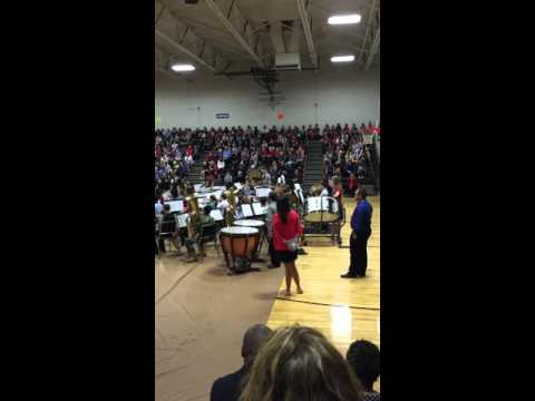 Veteran's Day Program @ Brooks Wester Middle school in Mansfield Texas