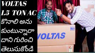 Voltas 1 5 Ton AC EU 183V CZTT R32 Unboxing amp Overview AC guidelines in Telugu by Bhargav