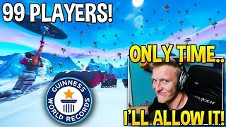 TFUE *SHOCKS* EVERYONE BY ALLOWING 99 STREAM SNIPERS IN HIS LOBBY! - Fortnite Moments