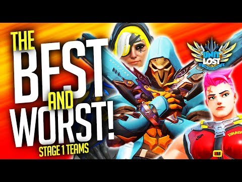 Overwatch - BEST and WORST Pro Teams of Stage One! [Overwatch League]