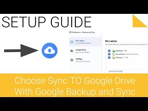 Change Google Backup and Sync settings Choose what to sync