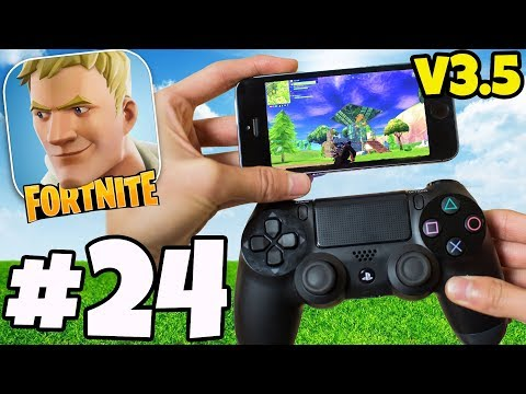 Fortnite 3.5 *NEW* Controller On mobile Gameplay No Hack/Cheat Fortnite IOS ANDROID #24 w/ Ali-A ?!