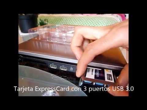 Tarjeta Express Card 54mm Con 3 Puertos Usb 3.0 Para Laptop