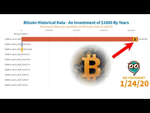Bitcoin Price History - An Investment Of $1000 (2010-2020)
