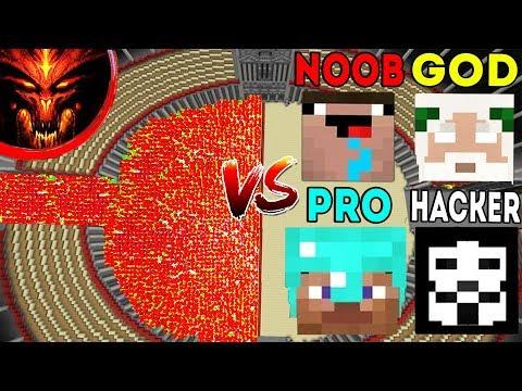 Minecraft Battle: Noob vs PRO vs HACKER vs GOD : SUPER GOD DEVIL APOCALYPSE Challenge - Animation