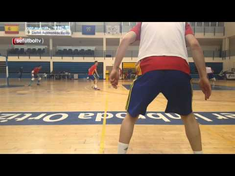 La selecci n espa ola de f tbol sala entrena en melilla for Federacion espanola de futbol sala