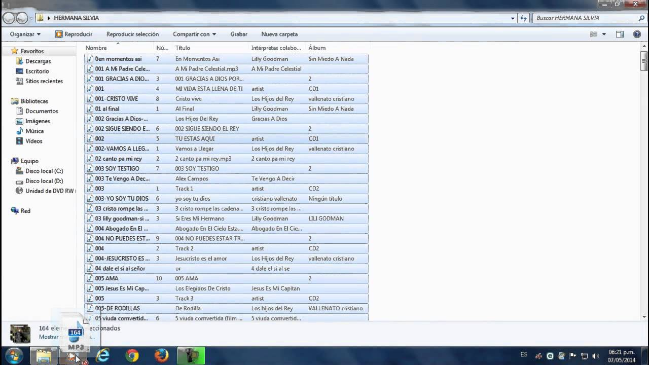 Como grabar CD mp3 - grabar CD de audio con windows media player ...