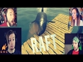 Gamers Reactions to First Shark Attack | Raft
