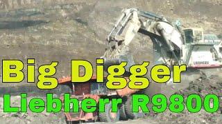 Excavator Liebherr R9800 Loading Hitachi EH5000 Vol 3 at Coal mine