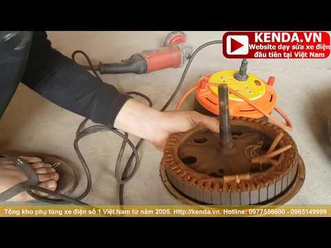 Cách Sử lý động cơ xe điện ngập nước bị rỉ và Sát Cốt