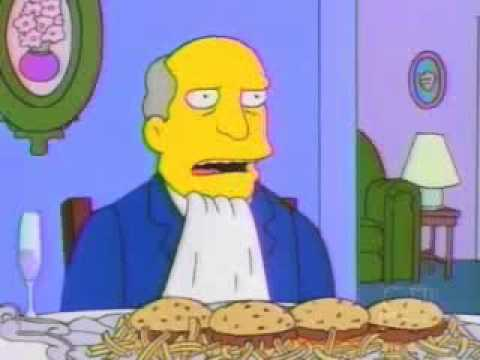 Skinner invites Chalmers on steamed hams